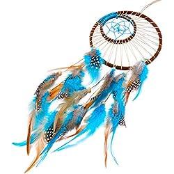 Imixcity - Atrapasueños indio hecho a mano, pluma, adorno colgante
