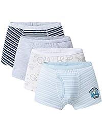 Name It 3er Set Jungen Boxer Shorts Slip Unterhose Slips Kinder Unterwäsche Grau
