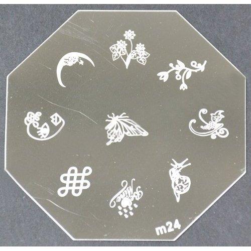 Nail Art emboutissage des tôles - M01 CODE : M24-plaque