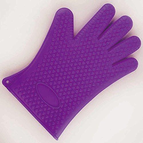 LaDicha Silikon Backofen Hitzebeständiger Handschuh Outdoor BBQ Grill Picknick Handschuhe Mitt Backen Handschutz ()