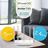 TP-Link Archer C60 AC1350 Wireless Dual Band Router (White, Not a Modem)