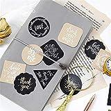WHKCX 45 Pz/ Scatola Carino Inglese Blessing Sticker Scrapbooking Pack Fai da Te Sigillo di Carta Etichetta diario Bullet Journal Viaggi Regalo di cancelleria, A