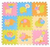 Menu Life Lot de 9dalles de scie sauteuse Op-out Tapis souple Tapis de puzzle Tapis de sol Tapis souple EVA Tapis de sol