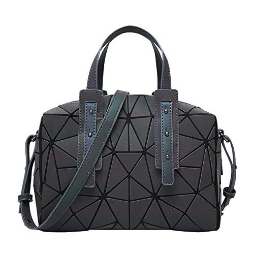 Frauen Luminous Sac Bag Diamant Tote Geometrie Gesteppte Schultertaschen,Luminous-OneSize (Handtasche Diamant-gesteppte)