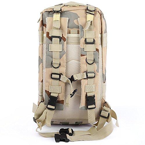 Militare tattico zaino piccolo 3Day Assault Pack Army molle Bug out bag zaini zaino per sport all' aperto escursioni, campeggio, caccia 30l, CP camouflage desert camouflage