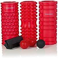Rodillo de espuma - juego de 13 cm de alta densidad rodillo de espuma para masaje, Lacrosse bola de masaje con pinchos, cacahuete bola, bolsa de transporte y E-Book Manual (Clasic)