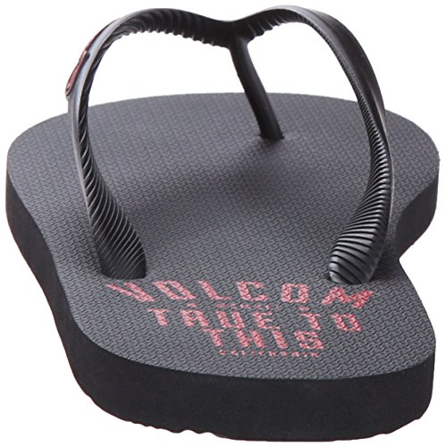 Tongs Volcom Rocker Gunmetal Gris Red combo