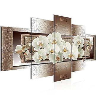 Runa Art Quadro da Parete, Motivo: Orchidee, 200 x 100 cm, in Tessuto Non Tessuto, Stampa Artistica Colorata, 5 Pezzi, Prodotto in Germania, Pronto per Essere Appeso 205451c