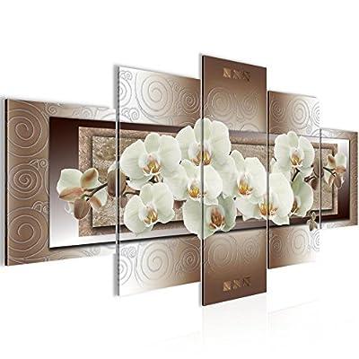 Quadro Orchidea fiori 200 x 100 cm – XXL Immagini Murale Stampa su Tela Decorazione da Parete Pronte per l'applicazione – 205451c