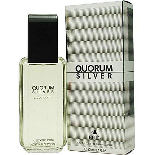 Quorum Silver By Antonio Puig For Men. Eau De Toilette Spray 3.4 OZ