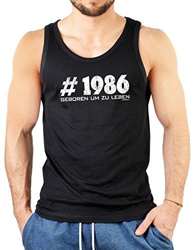 Herrentop Geschenk zum 31. Geburtstag # 1986 geboren um zu leben Herrentops Männer Tops Geschenk zum 31. Geburtstag 31 Jahre Geburtstagsgeschenk Schwarz