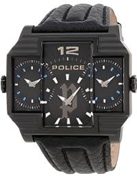 Police Reloj de Hombre Hammerhead con esfera negra, pantalla analógica y correa de piel negra 13088Jsb/02