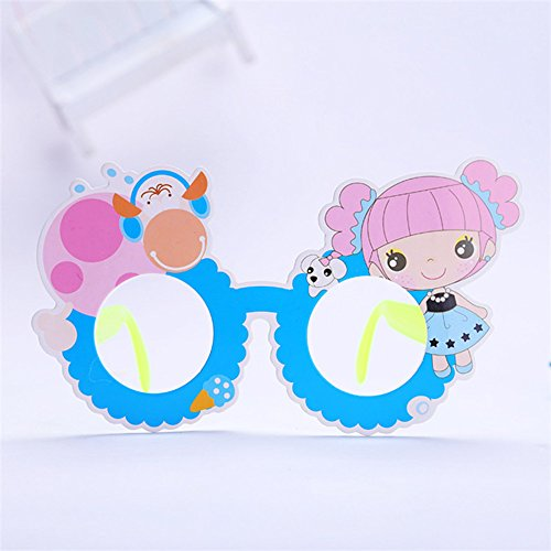 12 PCS/Pack Funny Cartoon Paper Glasses Kids Gift Foto Booth Props Halloween Dekoration Partyzubehör-Noel 2