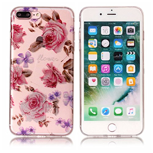 "Apple iPhone 7 Plus / 8 Plus 5.5"" Hülle, SATURCASE Schönes Muster Bling Ultra Dünn Weich TPU Gel Silikon Schützend Zurück Case Cover Handy Tasche Schutzhülle Handyhülle Hülle für Apple iPhone 7 Plus / Muster-8"