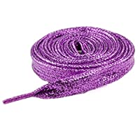 Mytoptrendz® - Girls Purple Glittery Shoelaces for Sport Dance Fancy Dress