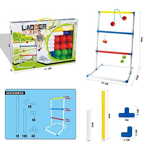 Yiwa Ladder Ball,Leiter Ball werfen Spiel Kinder Indoor Sport Spielzeug Ball mit 40 cm Rahmen (Ladder Ball Spiel)