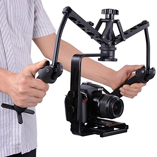 SolidGears Digitek DST-002 Spider Gimbal, shock absorber, Dual handheld stabilizer, steadicam glidecam steady rig for DSLR Mirrorless camera
