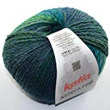 Katia Azteca bien DK 211 verdes 53% lana virgen 47% de acrílico 100 G de 270 m con 3,5-4mm Agujas