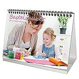 Tischkalender OHNE Kalendarium DIN A5 Bastelzauber weiß Selbstgestalten Bastelkalender Fotokalender Basteln Seelenzauber