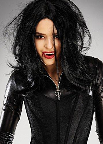 (Womens Deluxe Underworld Selene Style Vampire Perücke)