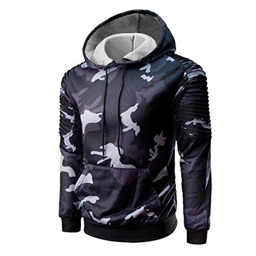 Kanpola Kapuzenpullover Herren Casual Hoodie Sweatshirt Camouflage Hoody Kapuzenjacke Männer Strickpullover Mantel Outwear Kapuzenshirt Kapuzen-Sweatshirt mit Kapuze