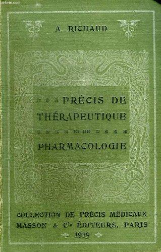 Precis de therapeutique et de pharmacologie