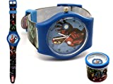 Marvel Avengers - Orologio analogico da polso in box regalo latta Captain America Thor Iron Man Hulk