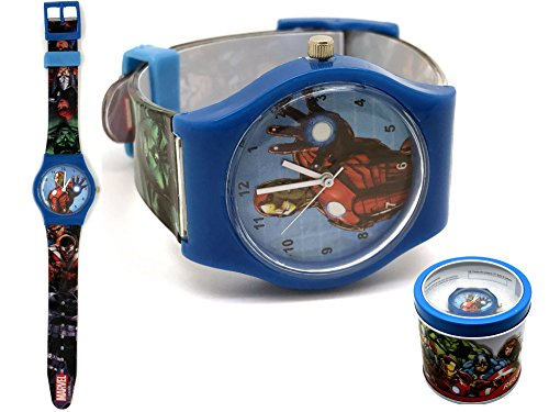 Marvel Avengers - Wrist Analog Watch In Metal Box, Hulk, Captain America, Thor, Iron Man Picture