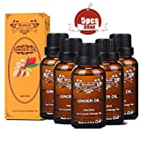 Ginger Oil, SPA Massage Oils, Plant Essential Oil, Ginger Oil for Massage Lymphatic Drainage, Body Massage Oil Promote Blood Circulation, Relieve Muscle Soreness