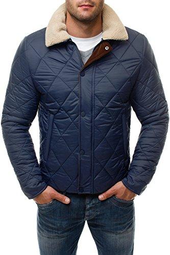 OZONEE Herren Winterjacke Jacket Mantel STEGOL 132 Dunkelblau