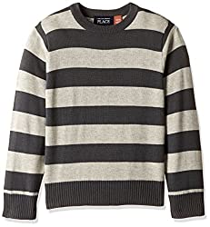 The Childrens Place Boys Sweater (2073494V7_Grey stone_XL (14))