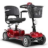 LLPDD Mobility Scooter, Mini 4-Rad-Elektro-Fahrzeug dreirädrigen Roller Intelligente Elektro-Rollstuhl 3 Drehsitz Faltbare E-Scooter für Erwachsene und Old Man -