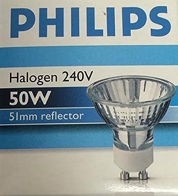 10x Philips Hochvolt Halogen Reflektor 230V GU10 50W 50 Watt 51mm