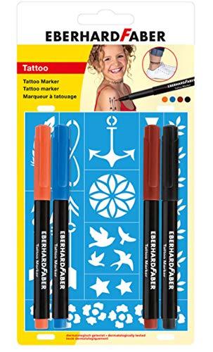1 - Tattoo Marker 4er Blisterkarte ()
