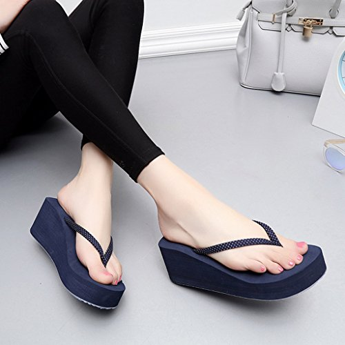 Sandali da donna da Sandali unisex - adulto,Nero, marrone, blu scuro deep blue heels