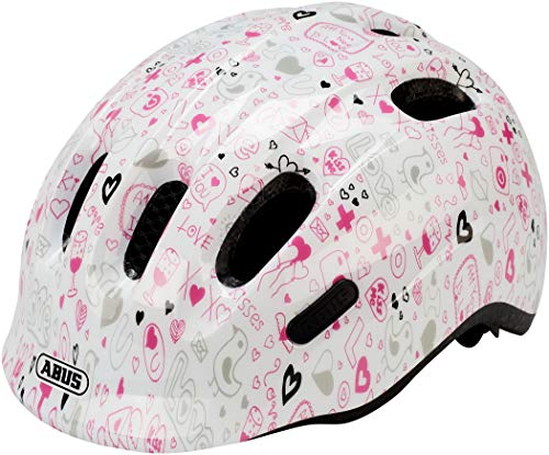 Abus Unisex - Babys Smiley 2.1 Fahrradhelm, White Crush, S