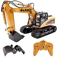 deAO Toys 15 Channel Remote Control Fork and Bucket Excavator Construction Digger Truck