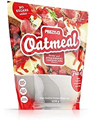 Prozis Oatmeal - Avena Integral, 1250g, Sabor Tarta de queso con Fresas, 12