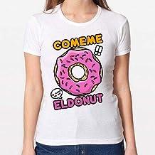 Positivos Camisetas Mujer/Chica - diseño Original Comeme el Donut - S