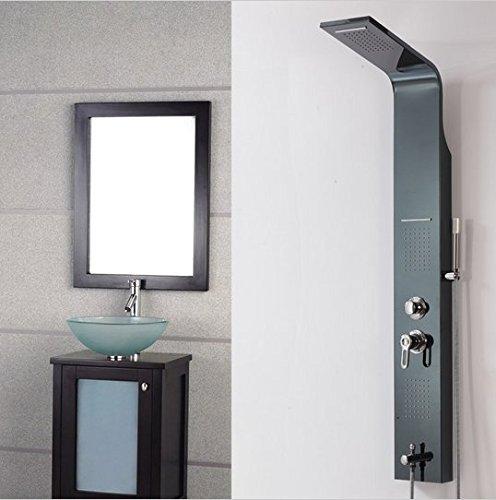 Gowe Luxus Single Griff Duschsäule Massage Duschpaneel Wasserfall/Regen Dusche Kopf + Hand Spray Öl eingerieben Bronze