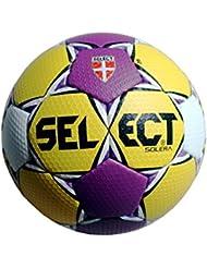 Select Solera–Balón de balonmano Amarillo de color lila Tamaño 3Amarillo Purple Color Blanco, tamaño 3