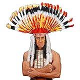 Häuptling Indianer Kopfschmuck Haarschmuck Federhaube Indianerschmuck Fasching Karneval Kopf Schmuck Federschmuck Kostüm Zubehör