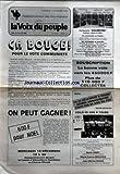 Telecharger Livres VOIX DU PEUPLE LA No 2241 du 13 12 1985 CA BOUGE POUR LE VOTE COMMUNISTE ON PEUT GAGNER SOUSCRIPTION LA BONNE VOIE VERS LES 450000 F PLUS DE 110000 F COLLECTES (PDF,EPUB,MOBI) gratuits en Francaise