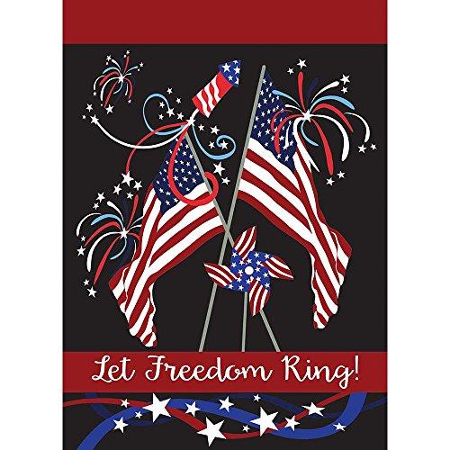 Magnolia Garden Let Freedom Ring Flaggen Patriotische Night Sky 13x 18rechteckig, klein, Garten Flagge