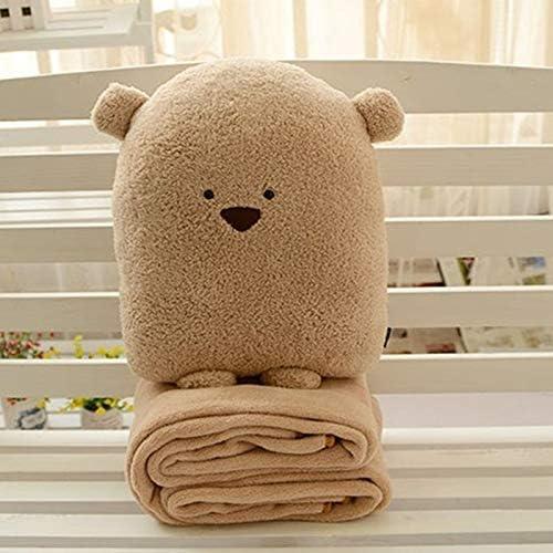 Jouet jouet pour pour pour les garçons et les filles Coussin de couverture multifonctionnel mignon animal peluche poupée jouet main réchauffeur (Couleur : Brown, Taille : 42x28cm+180x100cm.) B07M91J98G a3a5f4