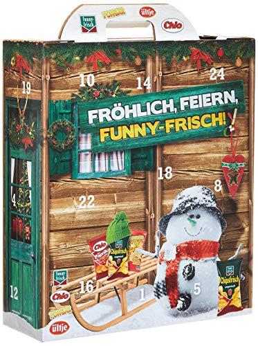 Intersnack Adventskalender, chio Chips, funnyfrisch, Pombär, ültje