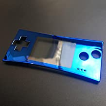 Zhhlinyuan Bright Color Faceplate Replacement para Game boy Micro GBM Front Shell Cover Blue