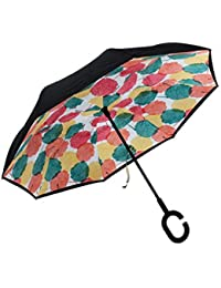 ShopyBucket New C Handle Double Layer Shape Folding And Rainy Umbrella For Women Party(color As Per Availability)