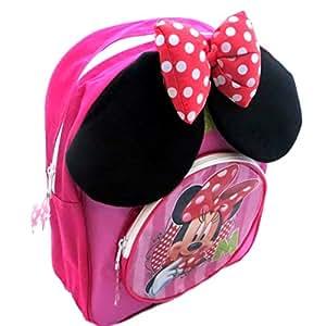 Disney Sac à dos Minnie Mouse avec les oreilles et la proue rembourré.