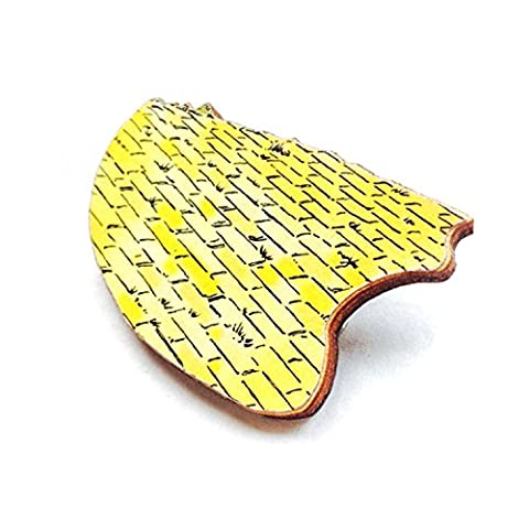 Wizard of Oz Gifts Yellow Brick Road Wooden Brooch Film Gift for Book Fans and Women by Lavinia's Tea Party Valentines Day SciFi